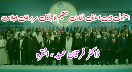 استنبول میں اسلامی تعاون تنظیم کا ہنگامی سربراہی اجلاس