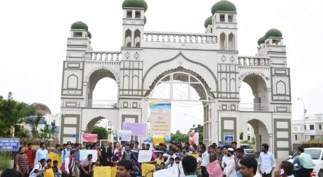 """مولانا آزاد یونیورسٹی – حیدرآباد میں """" تنوع میں اتحاد """" کے موضوع پر ریلی"""