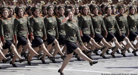 شمالی کوریا کے قیام کے ستر برس، شاندار فوجی پریڈ کا اہتمام