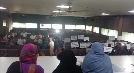 تین طلاق دینے والے شوہر وں کو کریمنل ایکٹ کے تحت سزا کا مستحق قرار دینا سراسر غیر انسانی اور ظالمانہ اقدام ،پریس کانفرنس کرکے خواتین ونگ نے سخت مخالفت کی