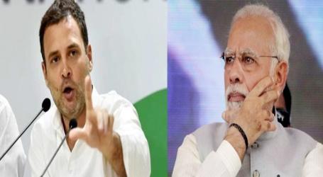 راہل گاندھی کامودی پر طنز کہا انہیں اپنے 56انچ کے سینے کے ساتھ پریس کانفرنس کرنی چاہیے'