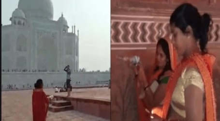 تین خواتین نے تاج محل کی مسجد میں گھس کر کی پوجا ویڈیو ہوا وائرل،مسلمانوں میں ناراضگی