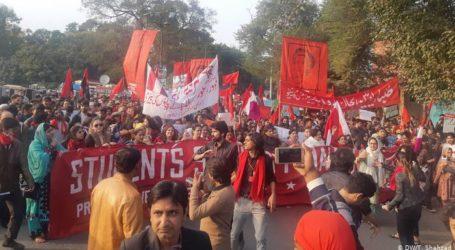 پورے پاکستان میں طلبہ وطالبات کا یکجہتی مارچ ۔اسٹوڈینٹ یونین کی بحالی کا مطالبہ