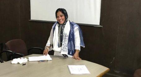 پی ایچ ڈی کی ڈگری حاصل کرنے پر نغمہ احمدی کو مبارکباد