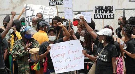 جارج فلائیڈ کی موت کے خلاف اقوام متحدہ آفس اور دیگر ممالک میں مظاہرہ