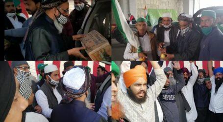 جمعیۃ علماء ہند کے کارکنان کسانوں کے ساتھ دہلی سرحدوں پر خیمہ زن