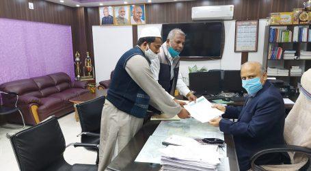 پرتاپ گنج اور للت گرام کے درمیان مدہوبنی میں مولانا آزاد ہالٹ کا مطالبہ سیمانچل ڈیلوپمنٹ فرنٹ کے جنرل سیکرٹری کی ڈی آر یم سمستی پور سے ملاقات