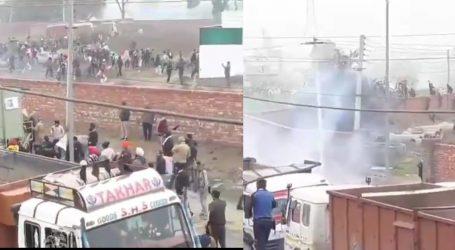 کرنال میں ہنگامہ: پولیس نے مظاہرہ کر رہے کسانوں پر کیا لاٹھی چارج ، داغے آنسو گیس کے گولے