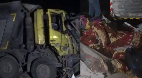 گجرات میں فٹپاتھ پر سو رہے 18 مزدوروں کو ڈمپر نے کچلا، 13 کی موت