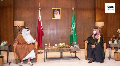 شہزادہ محمد بن سلمان کی امیر قطر سے العلا میں ملاقات