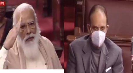 غلام نبی آزاد کی راجیہ سبھا سے وداعی، وزیر اعظم مودی نے اپنی جذباتی تقریر میں جم کر کی تعریف