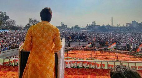 کسان تحریک: وزیر اعظم ساری دنیا گھوم لیے لیکن کسانوں کے پاس نہیں آئے، مظفرنگر مہاپنچایت سے پرینکا گاندھی کا خطاب