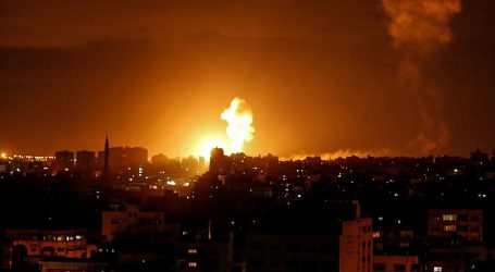 غزہ سے راکٹ حملے کے بعد اسرائیلی طیاروں کی غزہ میں بمباری