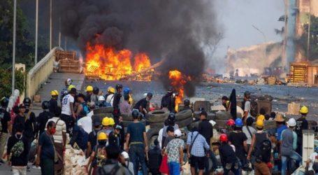 میانمار میں فوجی بغاوت کے خلاف احتجاج کا سلسلہ جاری، ایک دن میں 114 شہری ہلاک
