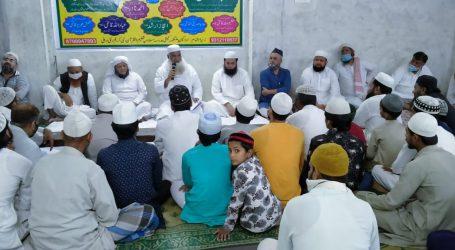 امیر شریعت مولانا محمد ولی رحمانی کی وفات پر مدرسہ تعلیم القرآن نبی کریم میں تعزیتی اجلاس کا انعقاد