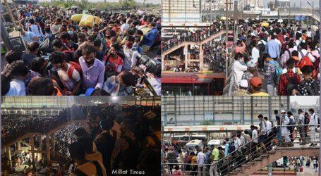 دہلی – این سی آر میں مہاجر مزدور پھر نکلے سڑکوں پر، پہلے 'لاک ڈاؤن' کی آئی یاد