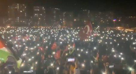 مسجد اقصیٰ پر اسرائیلی حملوں کے خلاف ترکی میں شدید احتجاج جاری