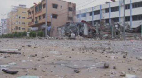 اسرائیلی حملے کے بعد غزہ میں تباہی کا منظر