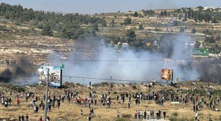 فلسطینی ریلی پر اسرائیلی فوج کا وحشیانہ تشدد