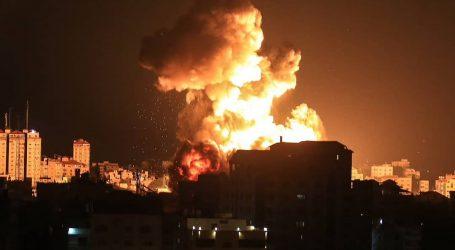 اسرائیل نے غزہ پر پھر فضائی حملہ کیا، غباروں کے جواب میں گولے داغے!