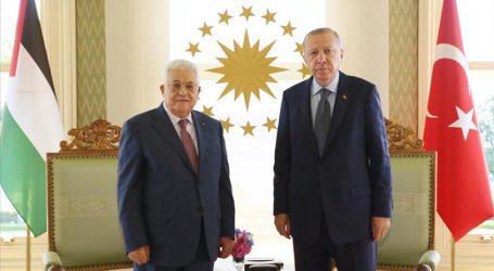 فلسطین کے صدر محمود عباس نے صدر ایردوان سے کی ملاقات
