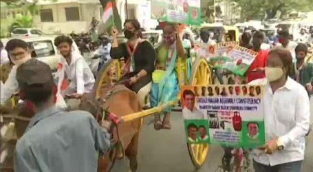 ایندھن کی بڑھتی قیمتوں کے خلاف بنگلورو میں کانگریس کا احتجاج، کئی مظاہرین حراست میں