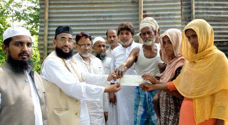 ماب لنچنگ کے مقتول محمد اسماعیل کے اہل خانہ کو امارت شرعیہ نے دیا 50 ہزار کا چیک