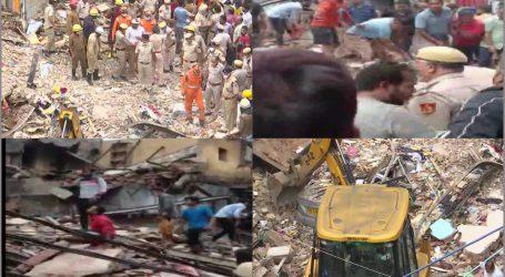سبزی منڈی کے علاقے میں ایک چار منزلہ عمارت منہدم، کئی لوگوں کے دبے ہونے کی اطلاع، راحت رسانی کا کام جاری